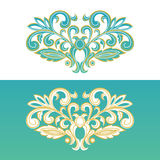 Ornate floral element for design. Royalty Free Stock Photos
