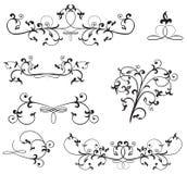 Ornate floral elements. Ornate elements for decor, Illustration Stock Photography