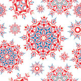 Ornate floral ethnic seamless pattern. Royalty Free Stock Image