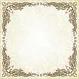 Ornate floral frame Royalty Free Stock Image
