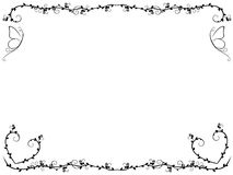 Ornate floral frame with butterflies. Ornate pattern with floral frame and butterflies, vector artwork Stock Image