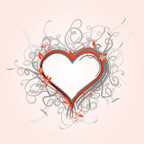 Ornate floral heart Royalty Free Stock Images