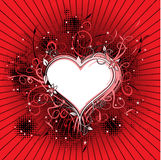 Ornate floral heart Stock Photo