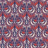 Ornate floral paisley damask seamless pattern. All over print symmetry vector background. Boho ethnic ornamental flourish fashion. Ornate floral paisley damask royalty free illustration