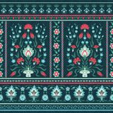Ornate floral pattern in oriental style Stock Photo