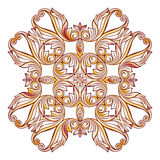 Ornate floral pattern on white Stock Photos
