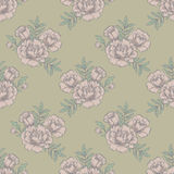 Ornate floral seamless background with flowers. template for card, poster, leaflet. Stock Images
