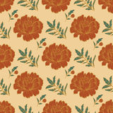 Ornate floral seamless background with flowers. template for card, poster, leaflet. Royalty Free Stock Photos