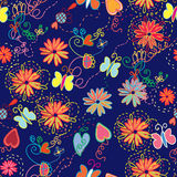Ornate floral seamless pattern Stock Image