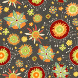 Ornate floral seamless pattern Stock Photo