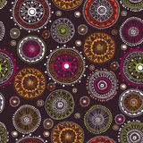 Ornate floral seamless pattern with flowers Stock Photography