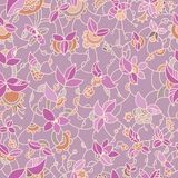 Ornate floral seamless pattern Stock Photos