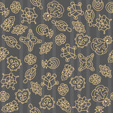 Ornate floral seamless texture, abstract hand-drawn pattern. Royalty Free Stock Photo