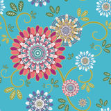 Ornate floral seamless texture Royalty Free Stock Photos