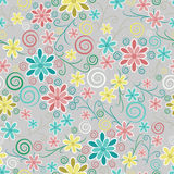 Ornate floral seamless texture Stock Photography