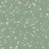 Ornate floral seamless texture, endless pattern with flowers. Green background. Seamless pattern can be used for wallpaper, pattern fills, web page background Stock Photo