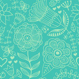 Ornate floral seamless texture, endless pattern with flowers. Se Royalty Free Stock Image