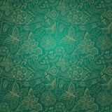 Ornate floral seamless texture, endless pattern with flowers. Se Royalty Free Stock Photo
