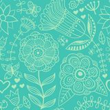 Ornate floral seamless texture, endless pattern with flowers. Se Royalty Free Stock Photography