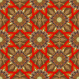 Ornate floral seamless texture, endless pattern with vintage mandala elements. Royalty Free Stock Photos