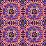 Ornate floral seamless texture, endless pattern with vintage mandala elements. Stock Photos