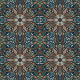 Ornate floral seamless texture, endless pattern with vintage mandala elements. Royalty Free Stock Photography