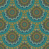 Ornate floral seamless texture, endless pattern with vintage mandala elements. Royalty Free Stock Image