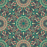 Ornate floral seamless texture, endless pattern with vintage mandala elements. Stock Photography