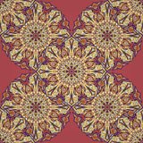 Ornate floral seamless texture, endless pattern with vintage mandala elements. Stock Image