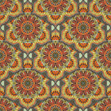 Ornate floral seamless texture, endless pattern with vintage mandala elements. Stock Photo