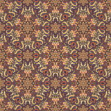 Ornate floral seamless texture, endless pattern with vintage mandala elements. Royalty Free Stock Photo