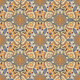 Ornate floral seamless texture, endless pattern with vintage mandala elements. Stock Images