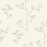 Ornate floral seamless texture, endless pattern wi Stock Image