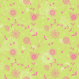 Ornate floral seamless texture in retro style. Endless pattern with flowers. It can be used for wallpaper, pattern fills, web page, surface textures Royalty Free Stock Photography
