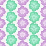 Ornate floral seamless texture, vector. Seamless pattern with flowers. Vector illustration. Hand-drawn floral background Royalty Free Stock Photography