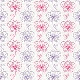 Ornate floral seamless texture, vector. Seamless pattern with flowers. Vector illustration. Hand-drawn floral background Stock Image