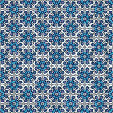 Ornate floral snowflakes seamless pattern. Stock Photos