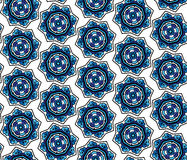 Ornate floral snowflakes seamless pattern. Endless background Stock Photo