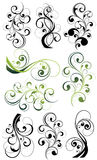 Ornate floral swirl set Royalty Free Stock Image