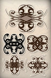 Ornate Florish Stickers Stock Images