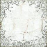 Ornate flourish border. Ornate flourish fantasy style border on grunge background Royalty Free Stock Image