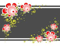 Ornate flower background Royalty Free Stock Images