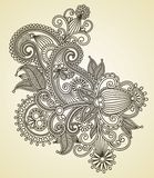 Ornate flower design Stock Photo