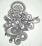 Ornate flower design Stock Images