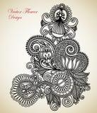 Ornate flower design Stock Photography