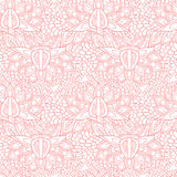 Ornate flower pattern. Pink floral ornate texture pattern background. Spring and wedding Stock Illustration