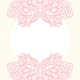 Ornate flower template. Pink floral ornate invitation card template background Royalty Free Illustration