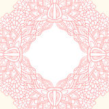 Ornate flower template. Pink floral ornate invitation card template background Royalty Free Stock Photo
