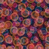 Ornate flowers seamless pattern, vector, eps10. Ornate flowers seamless pattern, vector illustration, eps10 stock illustration