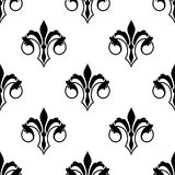 Ornate fluer de lys seamless pattern Stock Images